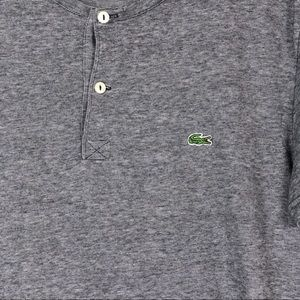Lacoste Shirts - Lacoste • Short Sleeve Cotton Jersey Henley